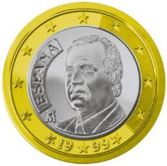 Images of Euro Coins - 1 Euro