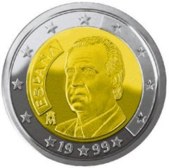 Images of Euro Coins - 2 Euros