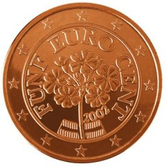 Images of Euro Coins - 5 Cents