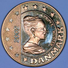 Obverse of New Danish Pattern €5 Coin