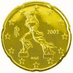 Italy 20 Euro Cent KM# 214