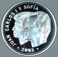 Obverse of Spanish €12 Proof Coin
