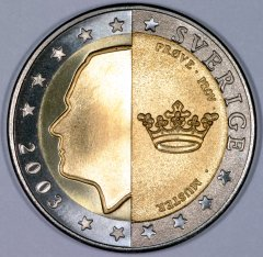 Swedish 2 Euro Pattern Coin