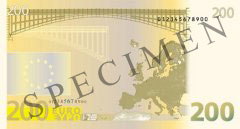Back of 200 Euro Banknote