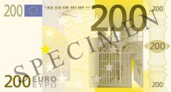 Front of 200 Euro Banknote