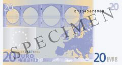 Back of 20 Euro Banknote