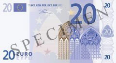 Front of 20 Euro Banknote