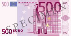 Front of 500 Euro Banknote